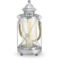 EGLO 49284 Asztali lámpa 1xE27 max. 60W antik ezüst/üveg Bradford