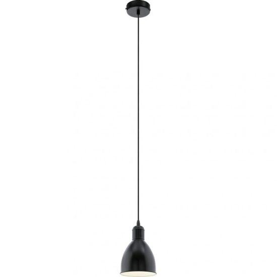 EGLO 49464 Függeszték 1xE27 max. 60W 15,5cm fekete Priddy