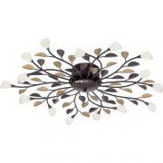 Eglo 90737 Campania mennyezeti lámpa 10xG4 10W antik barna/fehér