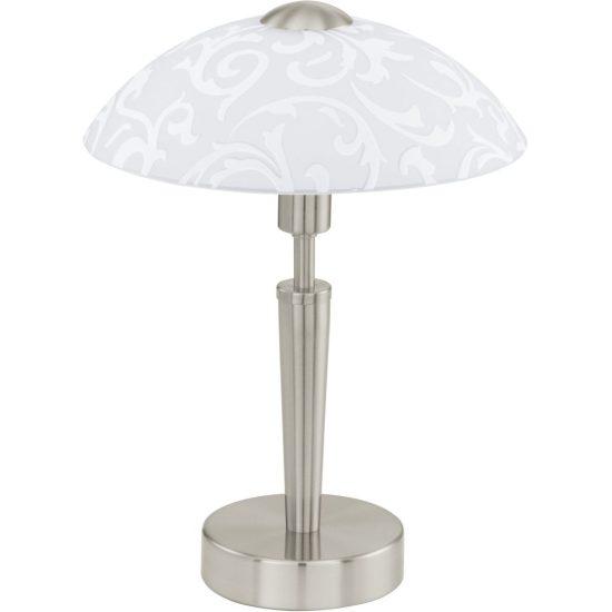 EGLO 91238 Asztali lámpa 1xE14 max. 60W matt nikkel/dekor üveg Solo