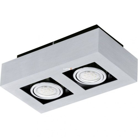 EGLO 91353 LED-es fali/Mennyezeti lámpa GU10 2x5W csiszolt alu Loke 1