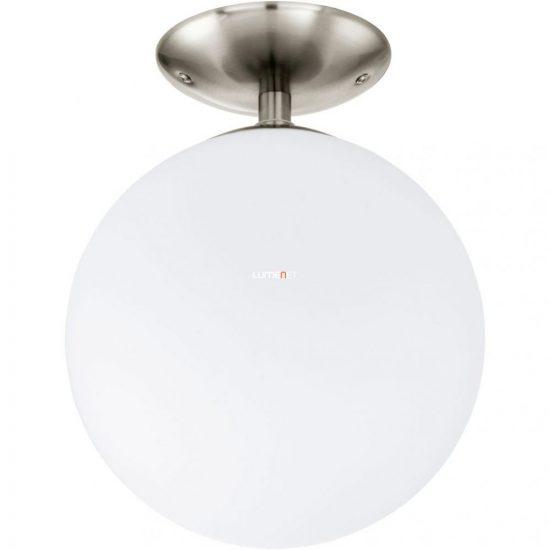 EGLO 91589 Mennyezeti lámpa 1xE27 max. 60W 25cm, matt nikkel/opál Rondo