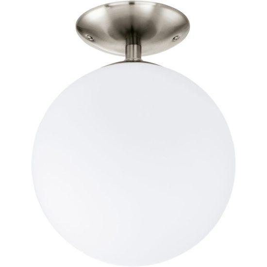 Eglo 91589 Rondo mennyezeti lámpa 1xE27 max. 60W 25cm, matt nikkel/opál