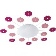 EGLO 92147 Fali/mennyezeti lámpa 1xE27 max. 60W rózsaszín virág Viki 1