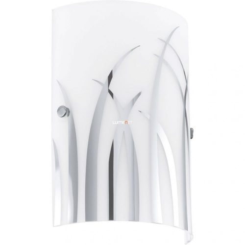 Eglo 92742 Rivato Fali 1xE14 max. 42W feh üveg/króm 18x25cm