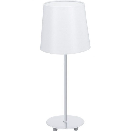 EGLO 92884 Asztali lámpa 1xE14 max. 40W acél/króm textil/fehér bura d:15,5cm m:39,5cm Lauritz