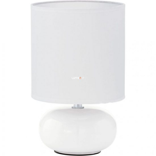 EGLO 93046 Asztali lámpa 1xE14 max. 40W fehér m:26cm d:15cm Trondio
