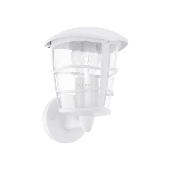 EGLO 93094 Kültéri fali fel 1xE27 max.60W 17*22,5*19cm alumínium öntvény fehér, átlátszó műanyag IP44 Aloria