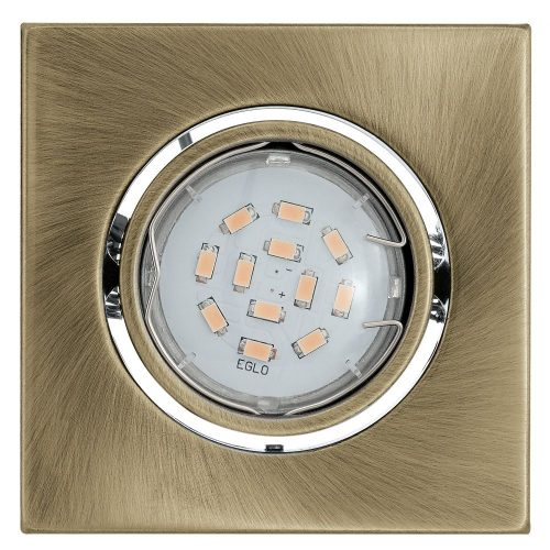 Eglo 93248 beépíthető szett 3xGU10 5W LED fém öntvény, bronz 9,5x9,5cm  szögletes billenthető IGOA