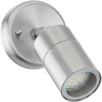 Eglo 93268 Stockholm 1 kültéri LED fali GU10 1x50W d:6,5cm nemesacél, üveg IP44