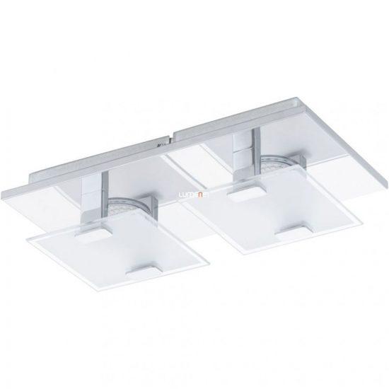 EGLO 93312 LED-es fali/Mennyezeti lámpa 2x2,5W króm/szatin üveg 13,5x27cm Vicaro