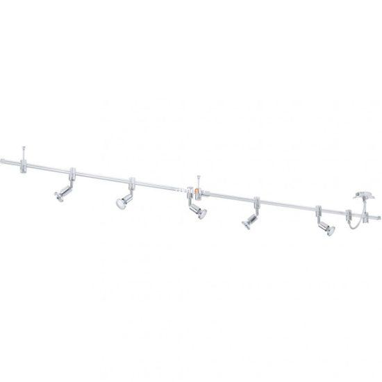 Eglo 93359 LED-es mennyezeti lámpa sínrendszer GU10 5x3W alu/króm 200cm kerek fej Vilanova