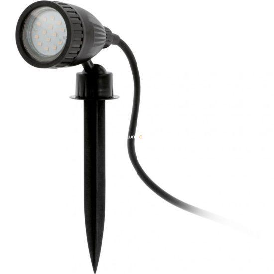EGLO 93384 Kültéri LED leszúrható GU10 1x3W 6*11,5*18,5cm műanyag fekete, 2m kábel, IP44 Nema 1