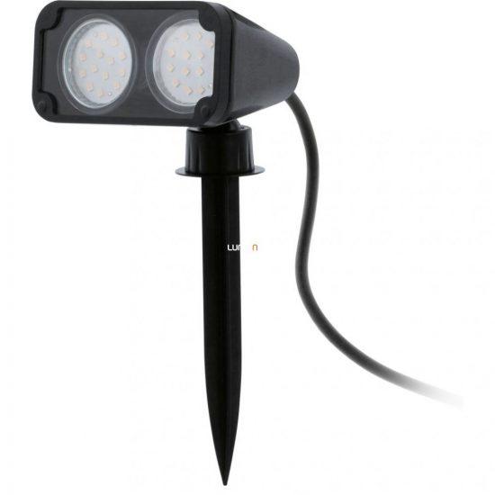 EGLO 93385 Kültéri LED leszúrható GU10 2x3W 11,5*11,5*18,0cm műanyag fekete, 2m kábel, IP44 Nema 1