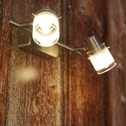 Eglo 93702 Orvieto 1 fali LED lámpa 2x3,3W matt nikkel/szatin üveg 28cm