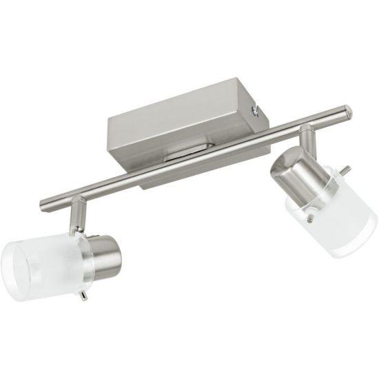 EGLO 93702 LED-es fali lámpa 2x3,3W matt nikkel/szatin üveg 28cm Orvieto 1