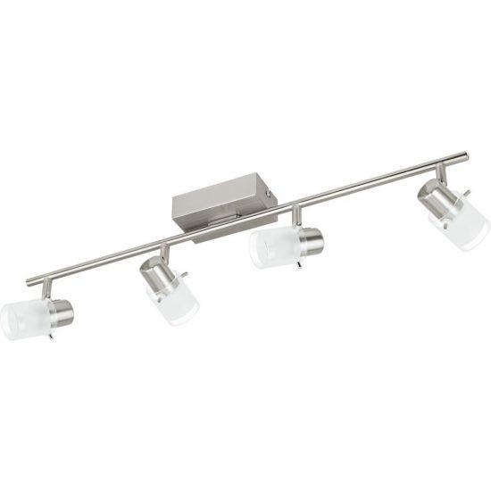 EGLO 93704 LED-es Mennyezeti lámpa 4x3,3W matt nikkel/szatin üveg 68,5cm Orvieto 1