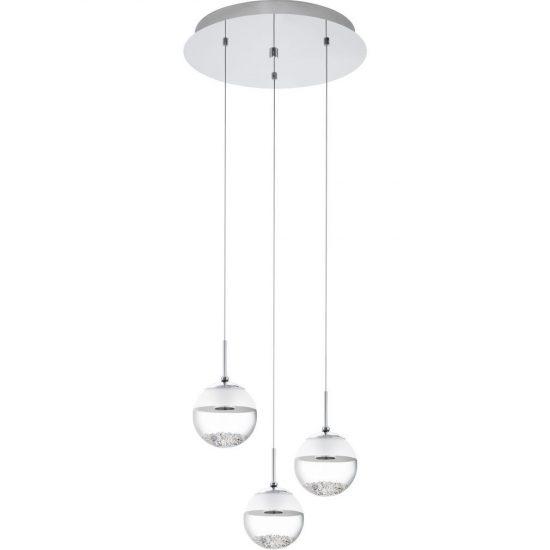 EGLO 93709 LED-es Függeszték 3x5W króm kerek d:40cm Montefio 1