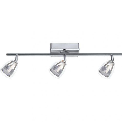 EGLO 93743 LED-es fali/Mennyezeti lámpa 3x4,5W króm/átlátszó 58cm Pecero