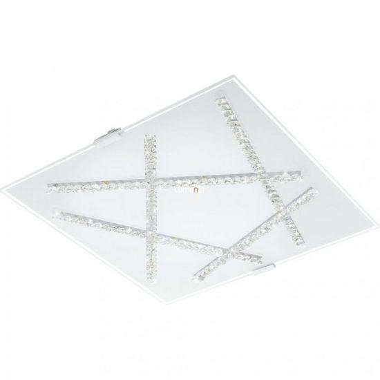 Eglo 93765 mennyezeti LED lámpa 16W 36,5x36,5cm üveg fehér/kristály Sorrenta