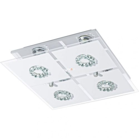 EGLO 93783 LED-es fali GU10 4x3W króm/szatin üveg/kristály 31x31cm Roncato