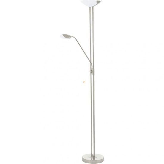 EGLO 93874 LED-es Állólámpa 20W/2,5W/2,5W olvasókarral m:180cm sz:36cm matt nikkel Baya LED