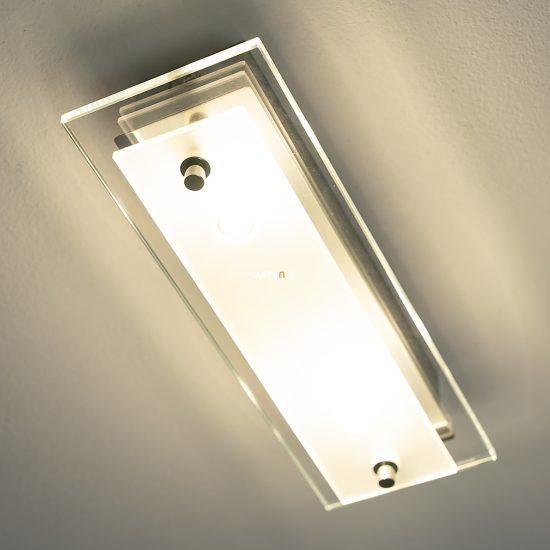 EGLO 93885 Fres 2 LED-es fali/Mennyezeti lámpa 2x5,4W króm/szatin üveg 28cm