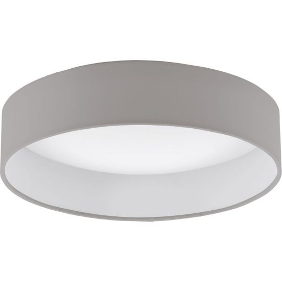 Eglo 93949 Palomaro mennyezeti LED lámpa 12W d:32cm műanyag fehér/textil szürkésbarna