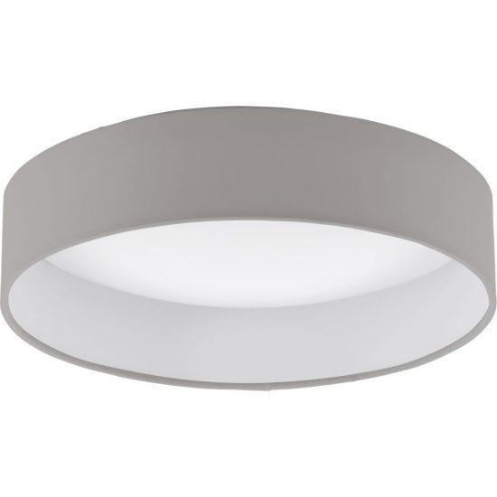 EGLO 93949 LED-es Mennyezeti lámpa 12W d:32cm műanyag fehér/textil szürkésbarna Palomaro
