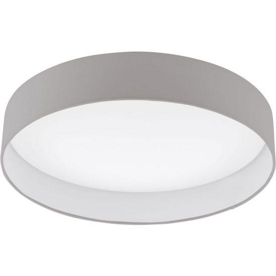 Eglo 93952 Palomaro mennyezeti LED lámpa 24W d:50cm műanyag fehér/textil szürkésbarna
