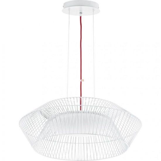 Eglo 93984 LED-es függeszték 18W d:58cm műanyag fehér/piros Piastre