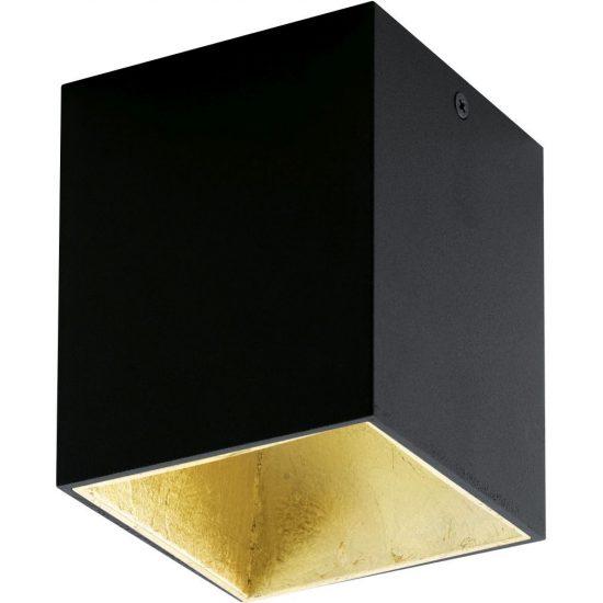 EGLO 94497 Led mennyezeti  1x3,3W fekete/arany Polasso