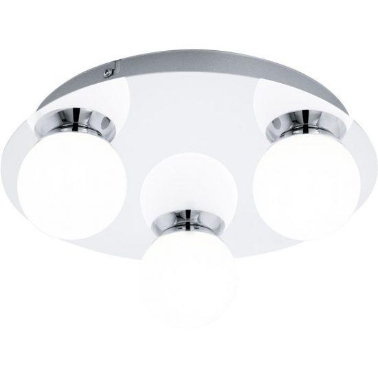 EGLO 94629 LED-es Fali-mennyezeti lámpa 3x3,3W 1020lm d:29cm króm/opál gömb Mosiano