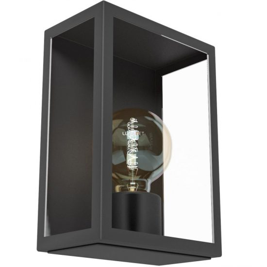 EGLO 94831 kültéri fali 1xE27 max 60W fekete/üveg Alamonte1