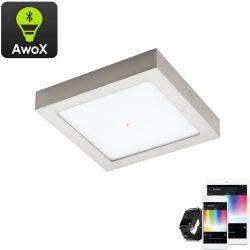 Eglo 96679 Fueva-C RGB mennyezeti LED panel nikkel IP20 225x225mm