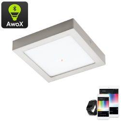 Eglo 96681 Fueva-C RGB mennyezeti LED panel nikkel IP20 300x300mm