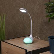 Eglo 97078 Cabado 1 LED RGB érintőkapcsolós asztali lámpa fehér + USB töltő