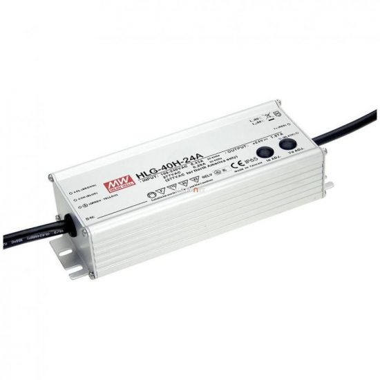 MEAN WELL HLG-40H-12A 40W IP65 Vin: 90-305V AC/127-431V DC, Vout: 12V DC