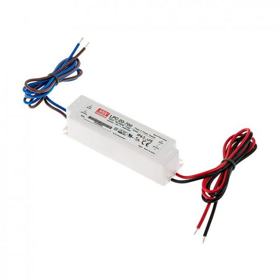MEAN WELL LPC-20-700 20W IP67 Vin: 90-264V AC, Vout: 3-30V DC/700mA