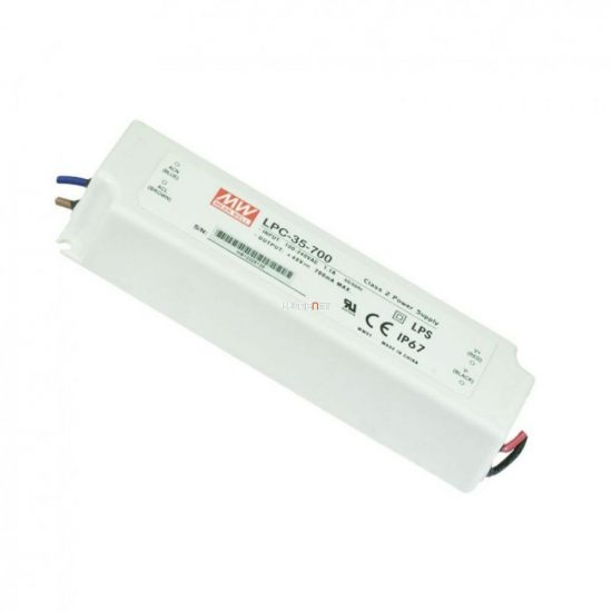 Mean Well LPC-35-700 35W IP67 Vin: 90-264V AC, Vout: 9-48V DC/700mA