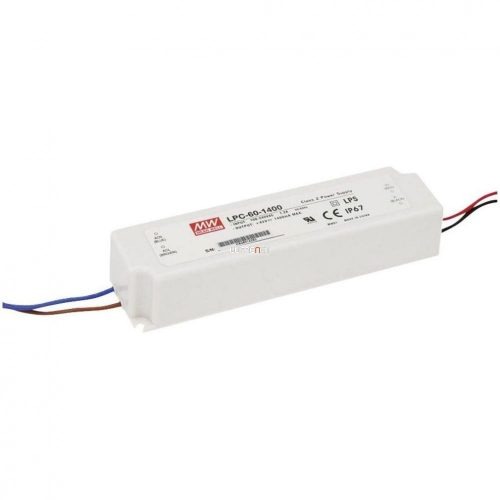 MEAN WELL LPC-60-1400 60W IP67 Vin: 90-264V AC, Vout: 9-42V DC/1400mA