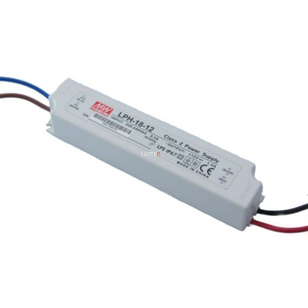 Mean Well LPH-18-12 18W IP67 Vin: 180-264V AC, Vout: 12V DC
