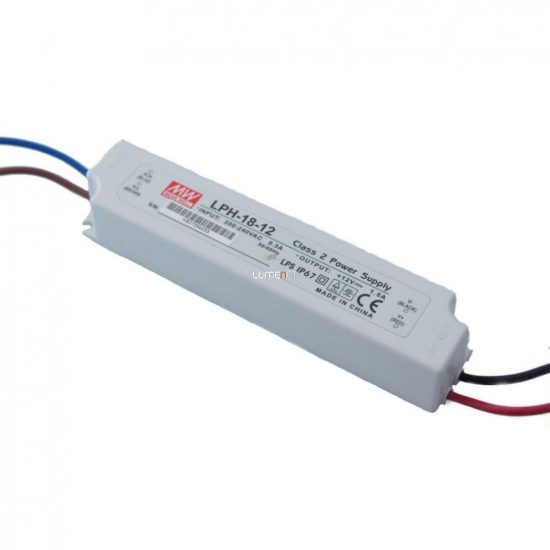 MEAN WELL LPH-18-12 18W IP67 Vin: 180-264V AC, Vout: 12V DC