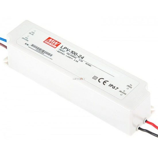MEAN WELL LPV-100-24 100W IP67 Vin: 90-264V AC, Vout: 24V DC