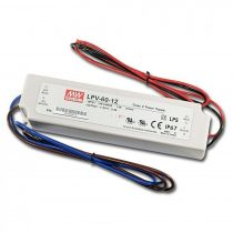 MEAN WELL LPV-60 60W 12V IP67 Vin: 90-264V AC, Vout: 12V DC