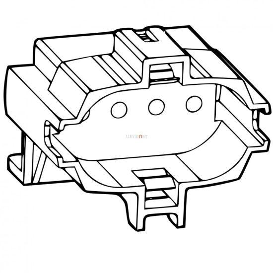 Stucchi 2G7 kompakt fénycső foglalat, lecsavarozható kivitel 451/VL