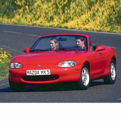 Autó izzók két halogén izzóval szerelt Mazda MX-5 (1998-2003)-höz