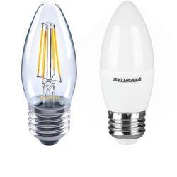 Gyertya forma E27 LED