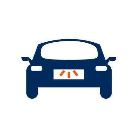 Hátsó rendszámtábla világítás izzó Citroen DS3 Cabrio (2013-2014)-hoz