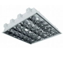 Fluorescent Lamp Luminaires with Louvre